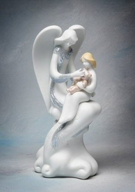 Nursing Angel Porcelain Figurine Sculpture