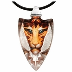 Orange Tigris Tiger Crystal Necklace By Mats Jonasson