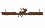Original Elk Four Hook Metal Wall Coat Rack