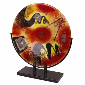 Out of this World Large Round Fused Glass Platter Charger