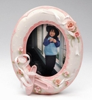 Oval Ballet Slippers Porcelain Picture Frame