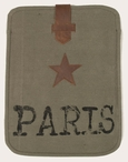 Paris and Star Stonewashed Canvas and Leather iPad Tablet Cover Case