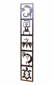 Petroglyph Totem Panel Metal Wall Art