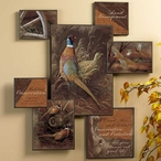 Pheasant Birds Wall Collage Wall Art