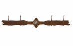 Picture Jasper Stone Four Hook Metal Wall Coat Rack