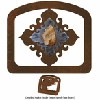 Picture Jasper Stone Metal Napkin Holder