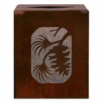 Pine Cone Metal Boutique Tissue Box Cover