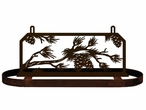 Pine Cones and Branches Hanging Metal Pot Rack