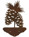 Pine Cones Double Metal Wall Hook