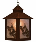 Pine Cones Metal Lantern Pendant Light