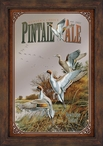 Pintail Ale Ducks Scenic Framed Wall Mirror with Wood Frame