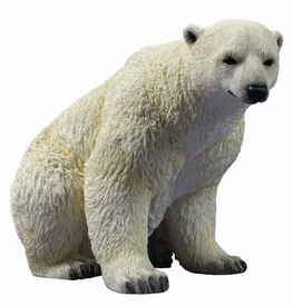Polar Bear Sitting Sculpture