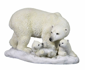 Polar Bear with Two Cubs Sculpture