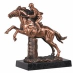 Polo Racing Statue - Copper Finish