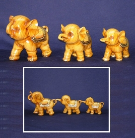 Polyresin Baby Elephants Statue, Set of 3