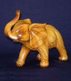 Polyresin Light Brown Standing Elephant Statue