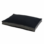 Ponderossa Black Seamed Fiber Pet Bed