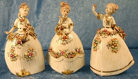 Porcelain Dancing Girls, Set of 3