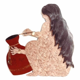 Pottery Woman Wall Art