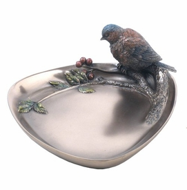 Pyracantha Bluetit Bird on Plate