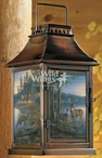 Quiet Places Whitetail Deer Metal and Glass Candle Lantern
