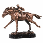 Large Racing Horse Statue