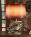 Rainbow Trout Rising Table Lamp