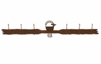 Ram Goat Six Hook Metal Wall Coat Rack