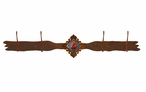 Red Jasper Stone Four Hook Metal Wall Coat Rack