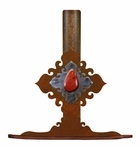 Red Jasper Stone Metal Paper Towel Holder