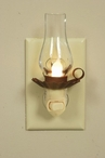 Red Penn's Grove Glass and Metal Night Lights with Chimney, Set of 6