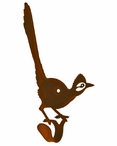 Road Runner Bird Small Single Metal Wall Hook