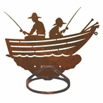 Row Boat Metal Bath Towel Ring