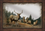 Royal Mist Elk Framed Wall Mirror