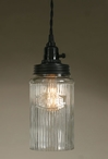 Rustic Brown Coffee Hoosier Glass Pendant Lamp Light