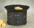 Rustic Brown Multiple Stars Short Round Electric Wax Warmer