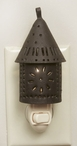 Rustic Brown Paul Revere Metal Night Lights, Set of 6