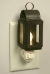 Rustic Brown Square Lantern Metal and Glass Night Lights, Set of 6