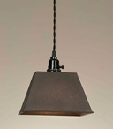 Rustic Brown Trough Pendant Lamp Light