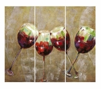 Salute Four Wine Glasses Oil Painting