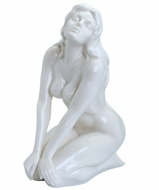 Sculpted Nude Female Glazed Porcelain Sculpture - 082