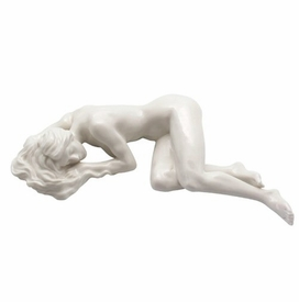 Sculpted Nude Female Glazed Porcelain Sculpture - 093
