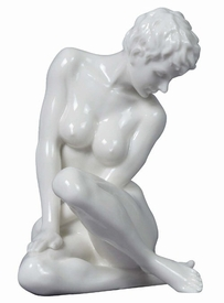 Sculpted Nude Female Glazed Porcelain Sculpture - 30105