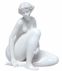 Sculpted Nude Female Glazed Porcelain Sculpture - 413