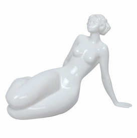Sculpted Nude Female Glazed Porcelain Sculpture - 415
