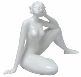 Sculpted Nude Female Glazed Porcelain Sculpture - 416