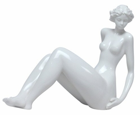 Sculpted Nude Female Glazed Porcelain Sculpture - 417