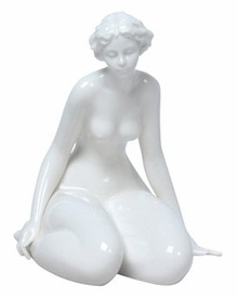 Sculpted Nude Female Glazed Porcelain Sculpture - 418
