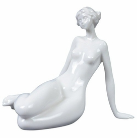 Sculpted Nude Female Glazed Porcelain Sculpture - 548