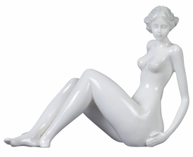 Sculpted Nude Female Glazed Porcelain Sculpture - 550